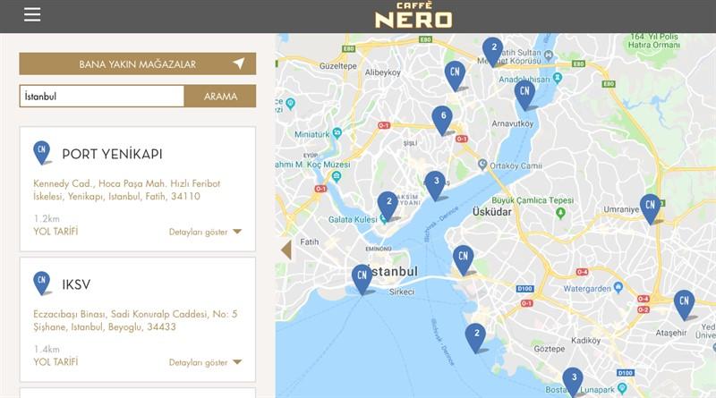 Caffe Nero Harita